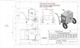 housse de protection pour machine industrielle