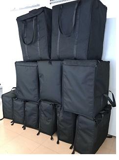 Confection sur mesure de sac de transport