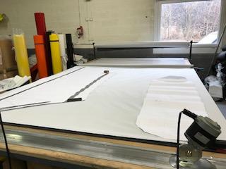 confection de housse de protection pour machine industrielle  sur mesure